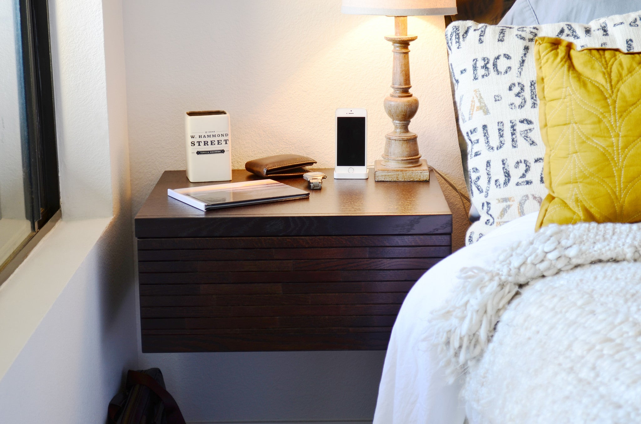 Wall Mounted Nightstands Floating Drawers