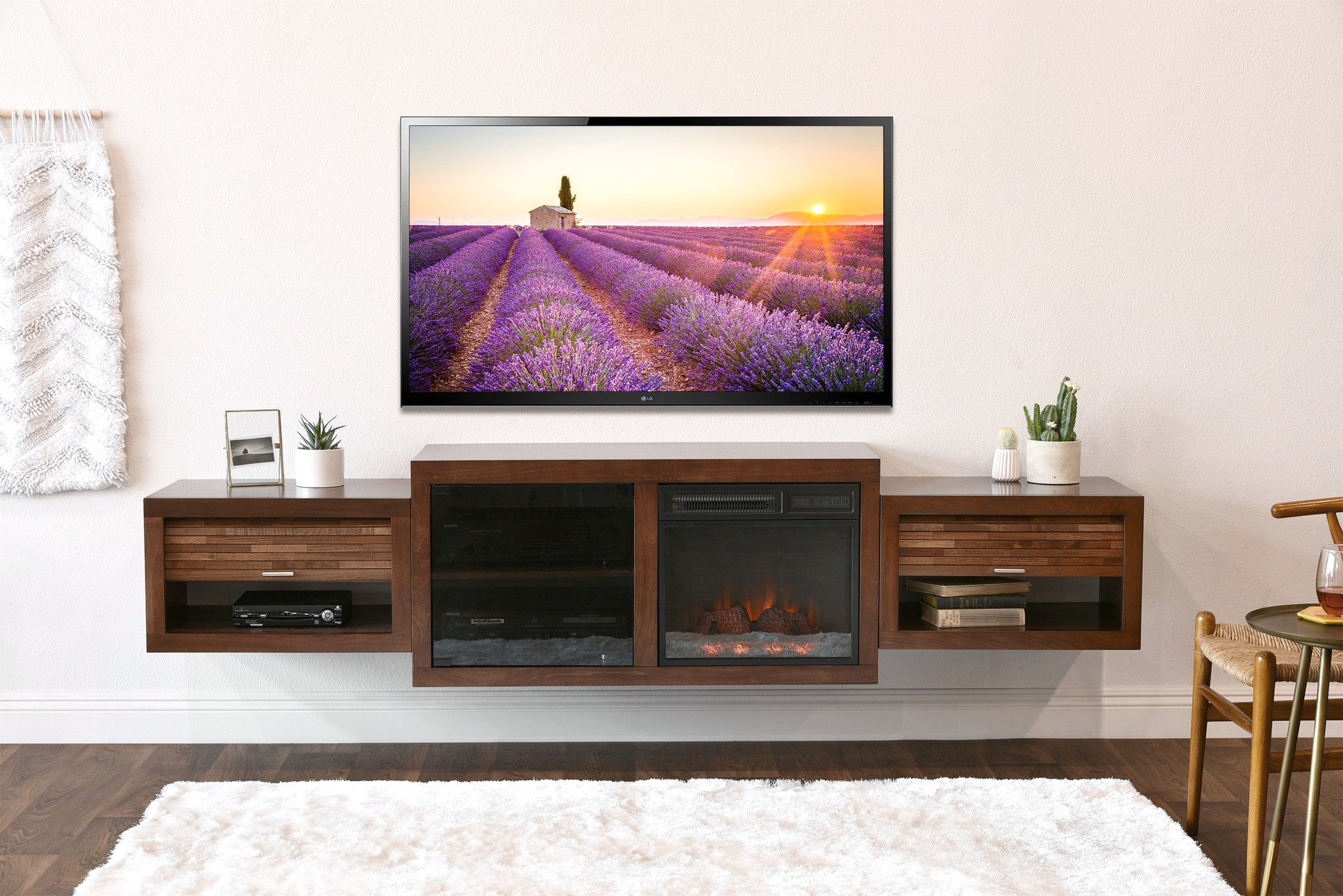 fireplace tv stands u0026 floating wall mount consoles page 2 woodwaves