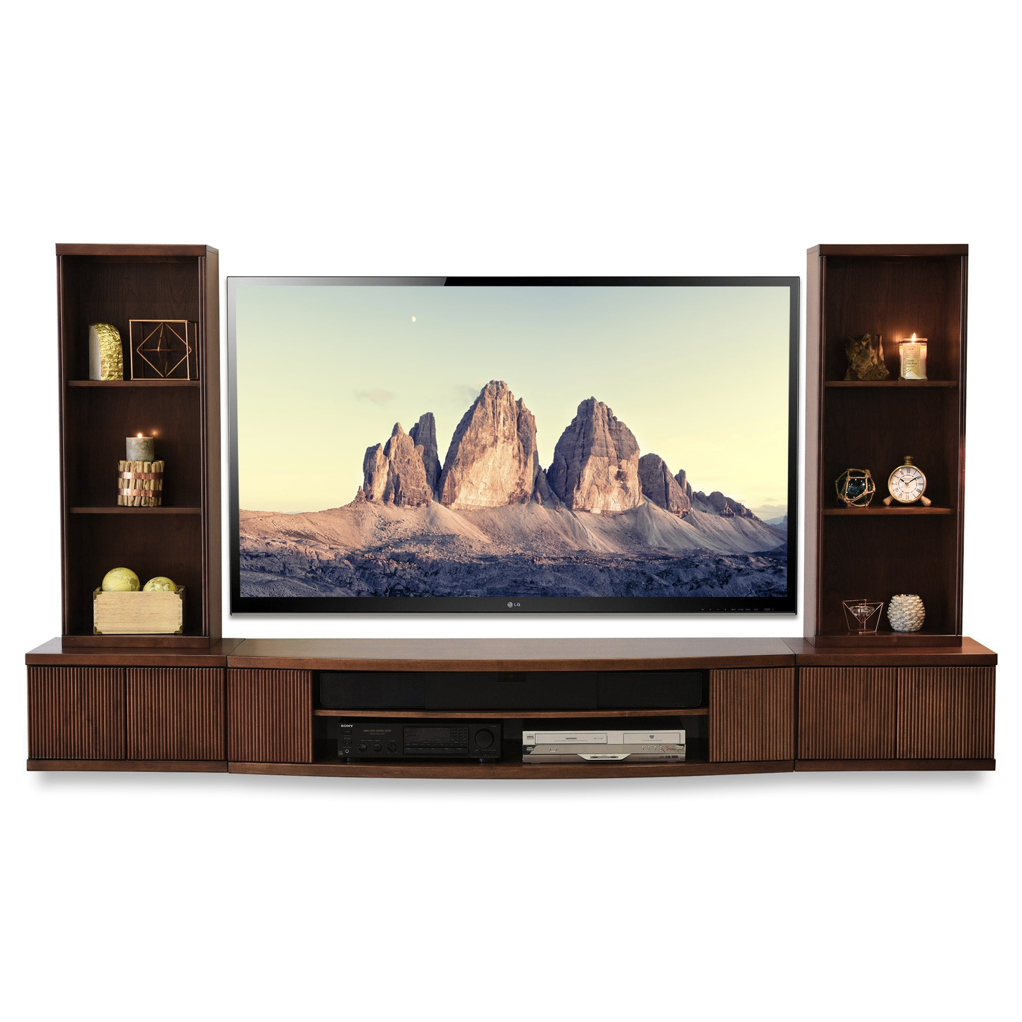 then cabinet tv floating cabinets pretentious silenia sound mount rectangle in staggering wooden ga mounted wall brown snazzy hung fashionable system led
