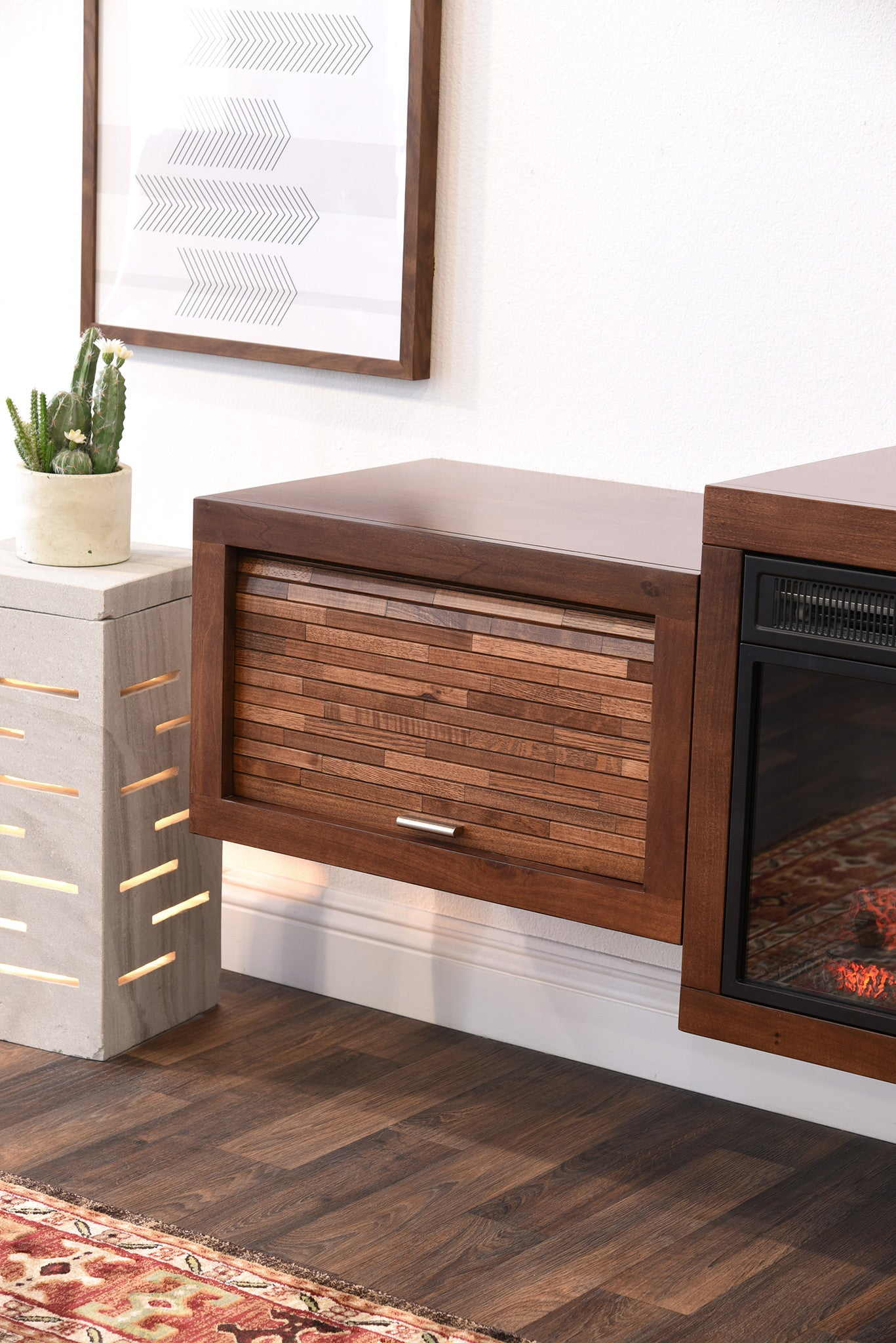 floating tv stand with fireplace  eco geo mocha. floating tv stand with fireplace  eco geo mocha  woodwaves
