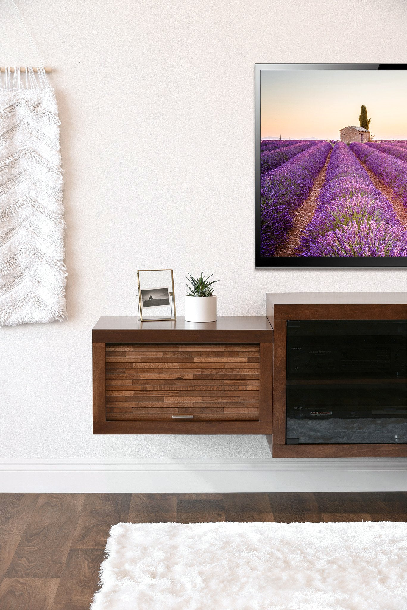 floating fireplace entertainment wall tv console eco geo mocha