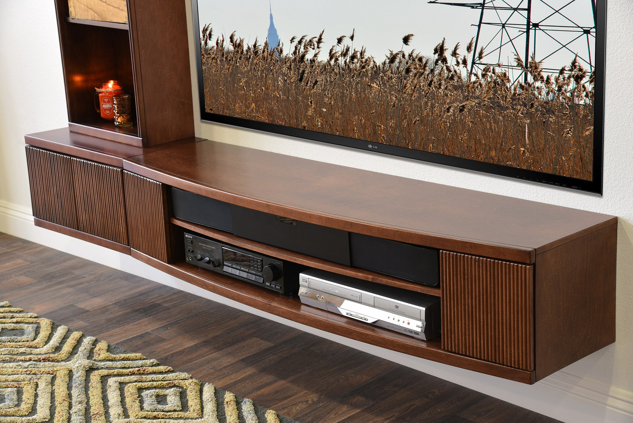 Wall Media Cabinet Wall Mounted Media Console