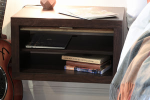 Floating Nightstand - ECO GEO Espresso
