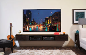 Wall Mounted TV Stand - Mayan Espresso