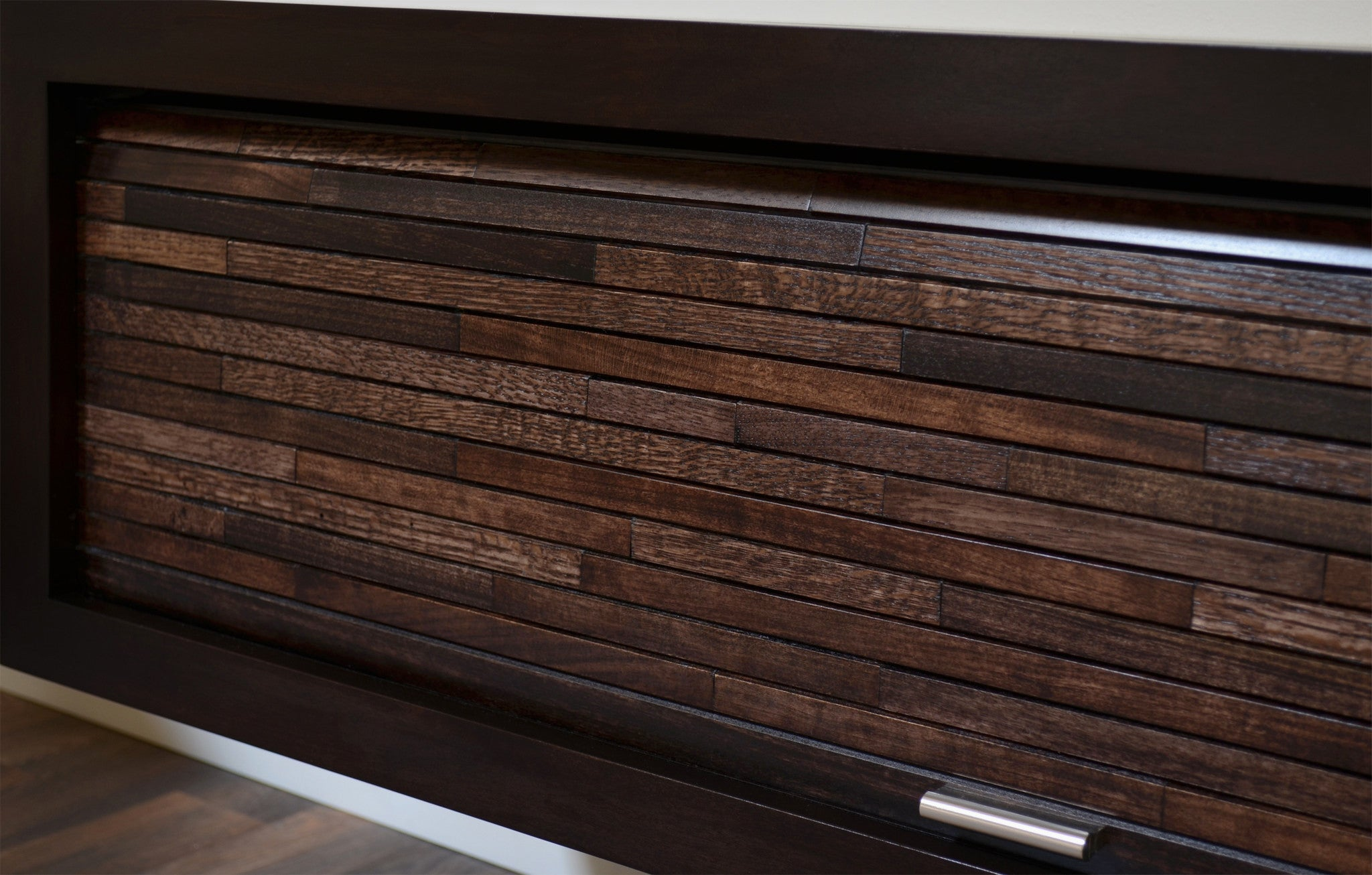 Floating TV Stand Entertainment Center - ECO GEO Espresso - Woodwaves