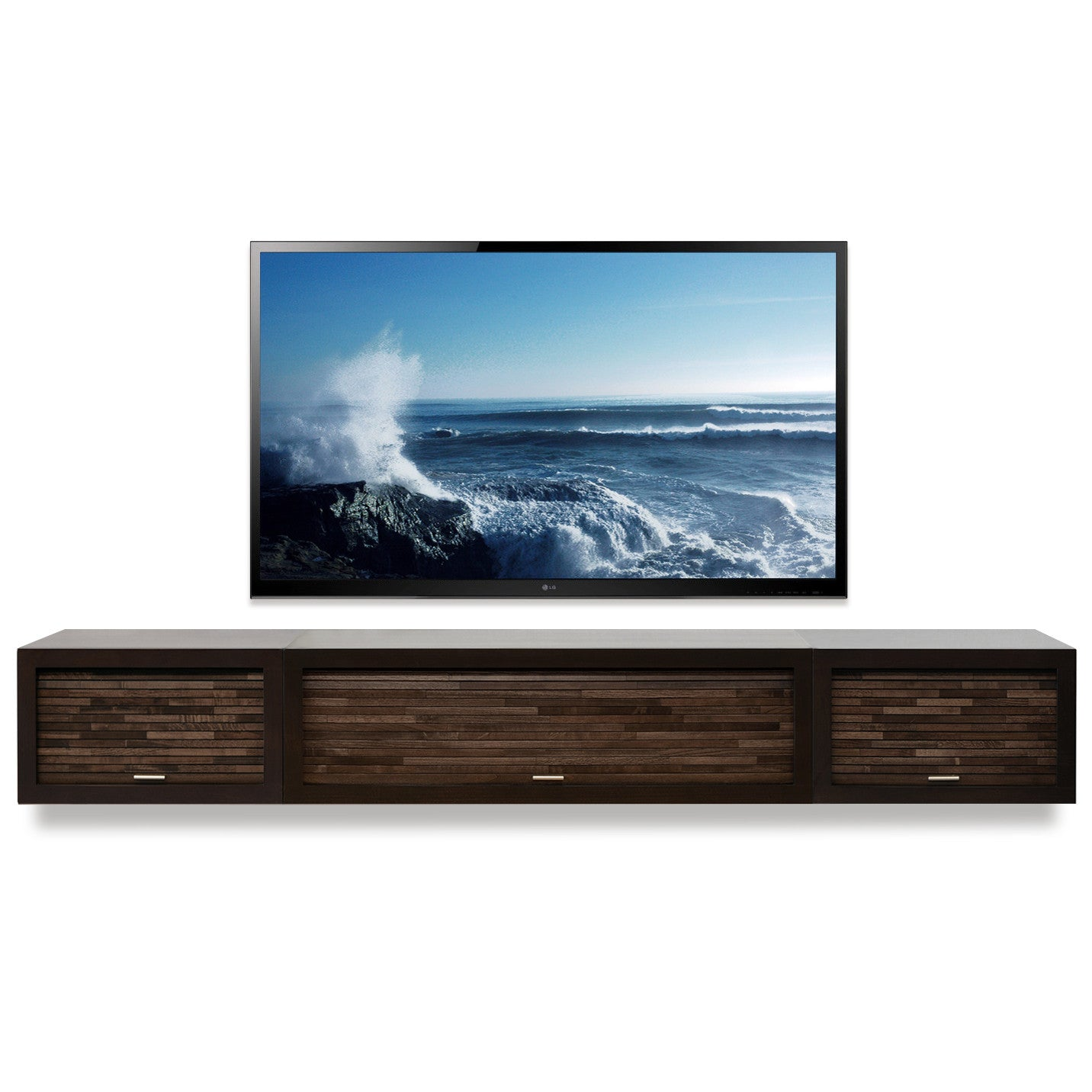 Image of: Wall Mounted Floating Tv Stands Woodwaves