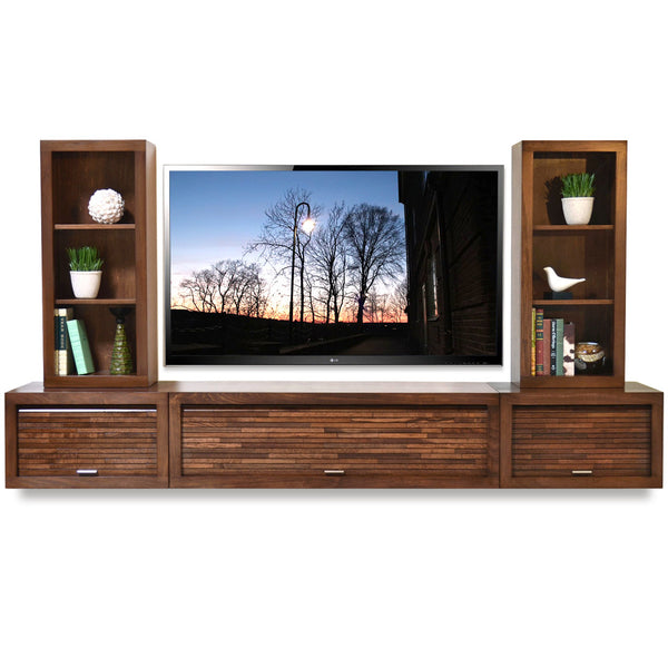 floating entertainment center wall mount tv stand eco geo mocha woodwaves. Black Bedroom Furniture Sets. Home Design Ideas