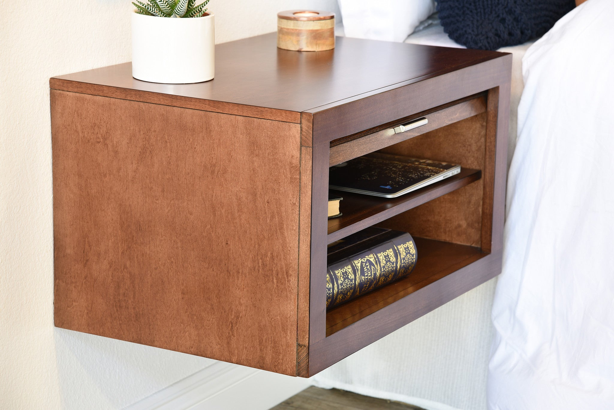 Floating Wall Mount Nightstands - ECO GEO - Mocha - OB 30% OFF