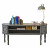 French Cottage Gray Traditional Credenza Sideboard - Vintage Driftwood Gray