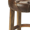 Rustic Industrial Modern Wood and Leather Bar Stool