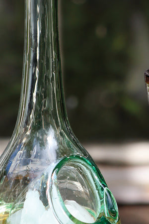 Modern Glass Wine Decanter With Ice Pocket