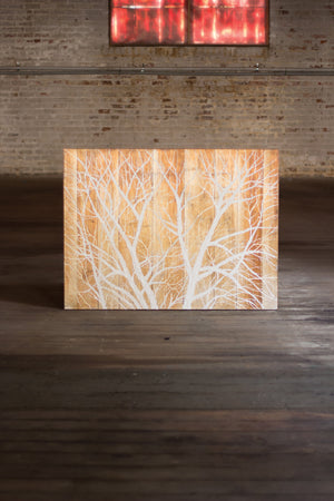 Oil Painting- Graphic White Tree