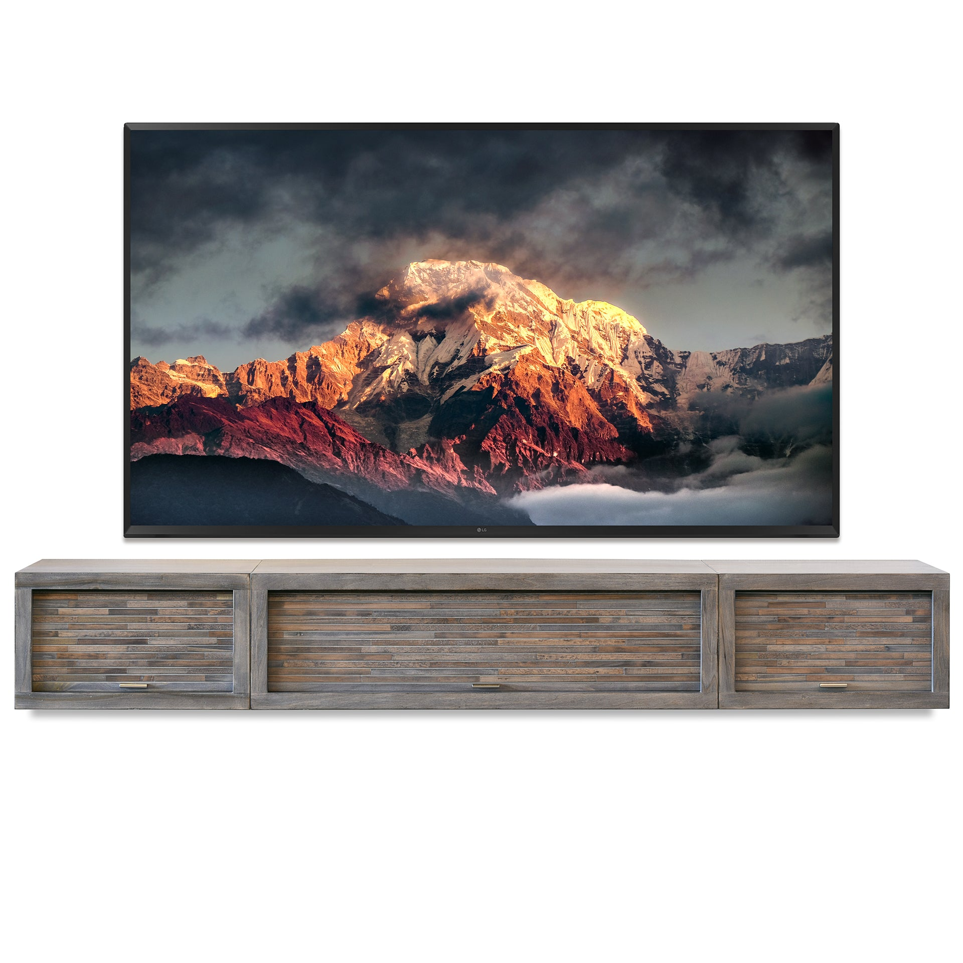 Featured Modern Furniture U0026 Decor. Gray Floating TV Stand Entertainment  Center   ECO GEO Lakewood