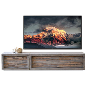 Gray Floating TV Stand Entertainment Console - ECO GEO Lakewood