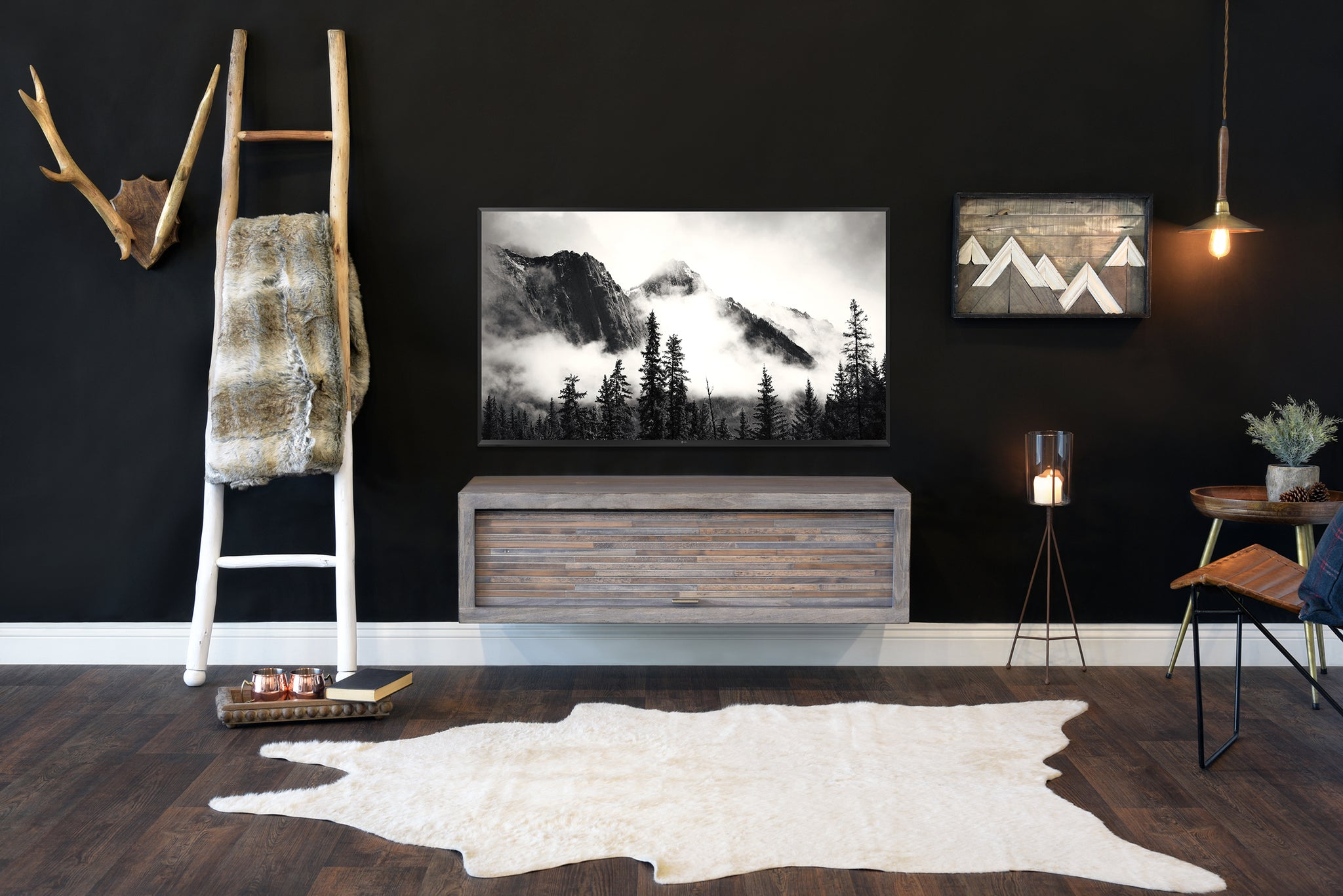 Gray Floating TV Stand - ECO GEO - Lakewood