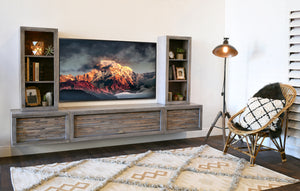 Gray Floating TV Stand Modern Wall Mount Entertainment Center - ECO GEO Lakewood