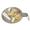 Round Gray Marble Cutting & Serving Board