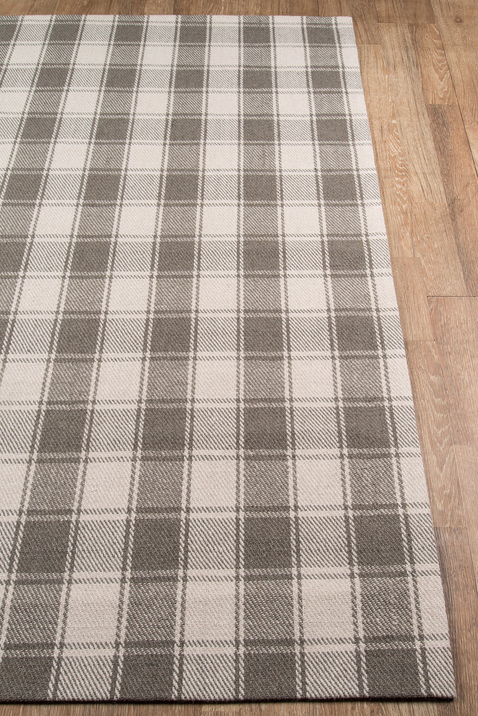Gray Plaid Tartan Wool Rug - Erin Gates - Marlborough