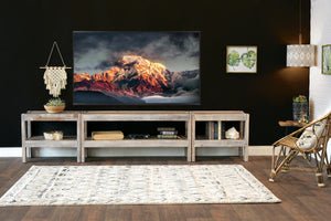 Gray Rustic Wood Reclaimed TV Stand Entertainment Center - presEARTH Lakewood