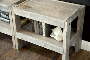 Gray Rustic Wood Reclaimed TV Stand Entertainment Center Console - presEARTH Lakewood