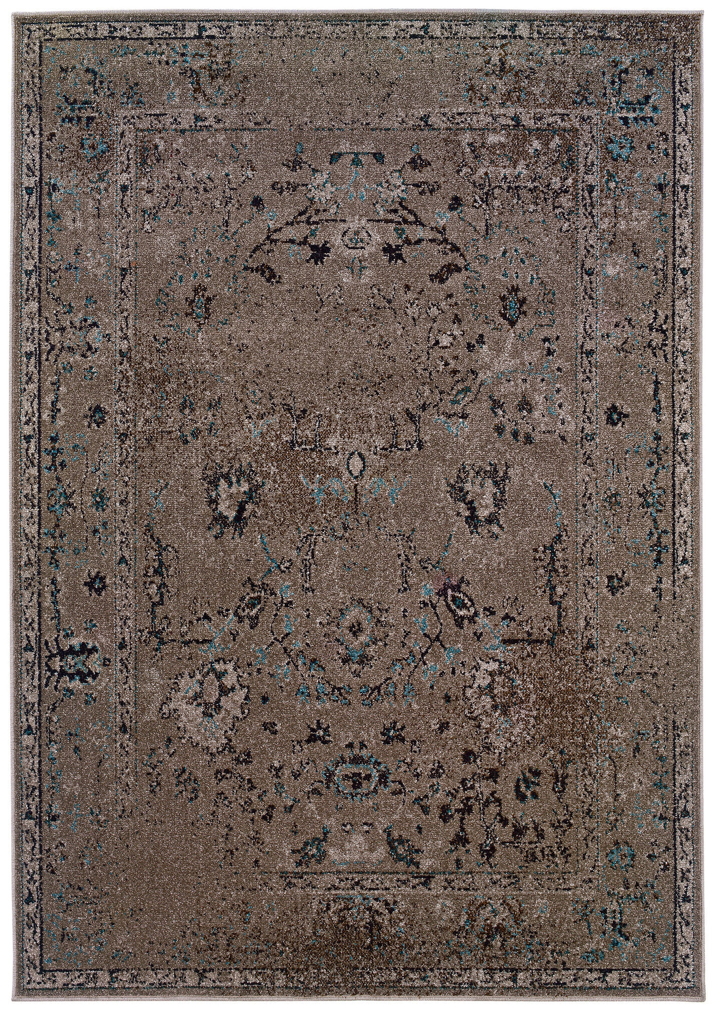 Gray Faded Overdyed Style Rug