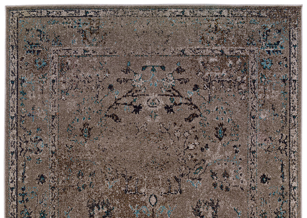 Gray Faded Overdyed Style Rug Woodwaves