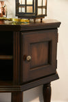 Traditional Brown Rustic Sideboard Console - Vintage - Dark