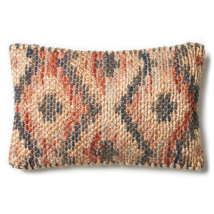Handwoven Red and Beige Jute Pillow