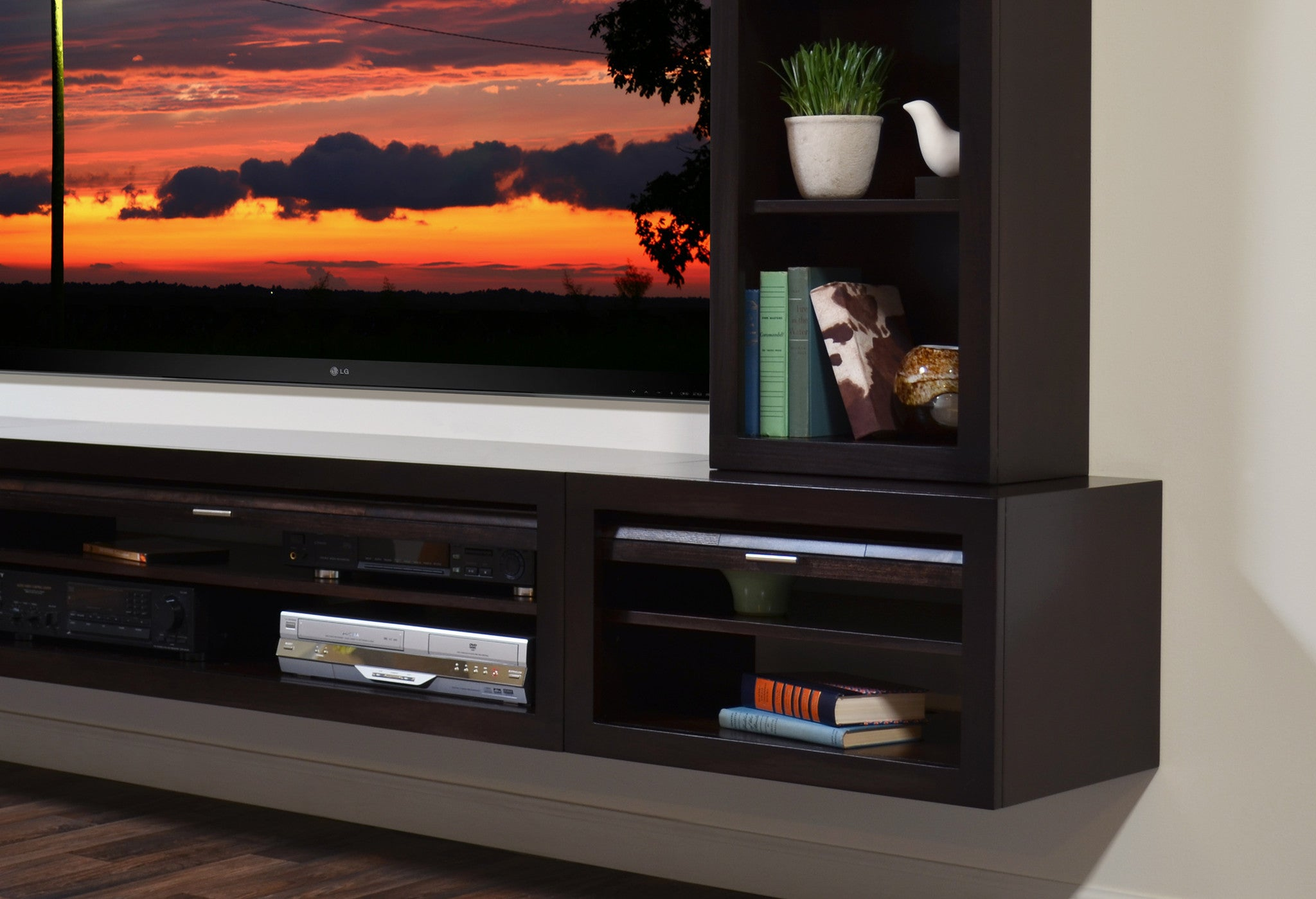hanging wall mount entertainment center floating tv stand  eco  - hanging wall mount entertainment center floating tv stand  eco geoespresso pc  bookcase