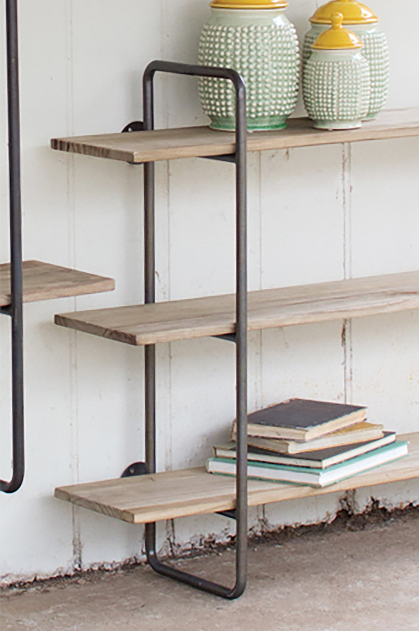 Hanging Wall Shelf small industrial modern hanging wall shelf - woodwaves