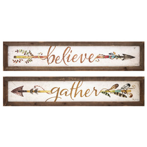 Harvest Rustic Arrow Wall Art - Set of Two