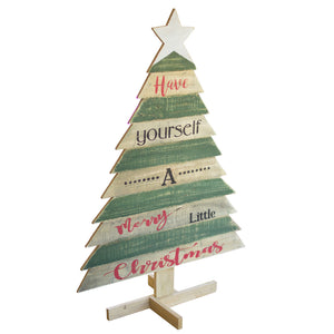 Have Yourself A Merry Little Christmas Decorative Wood Christmas Tree