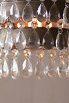 Mini Industrial Modern Raw Metal Edison Chandelier Pendant With Gems