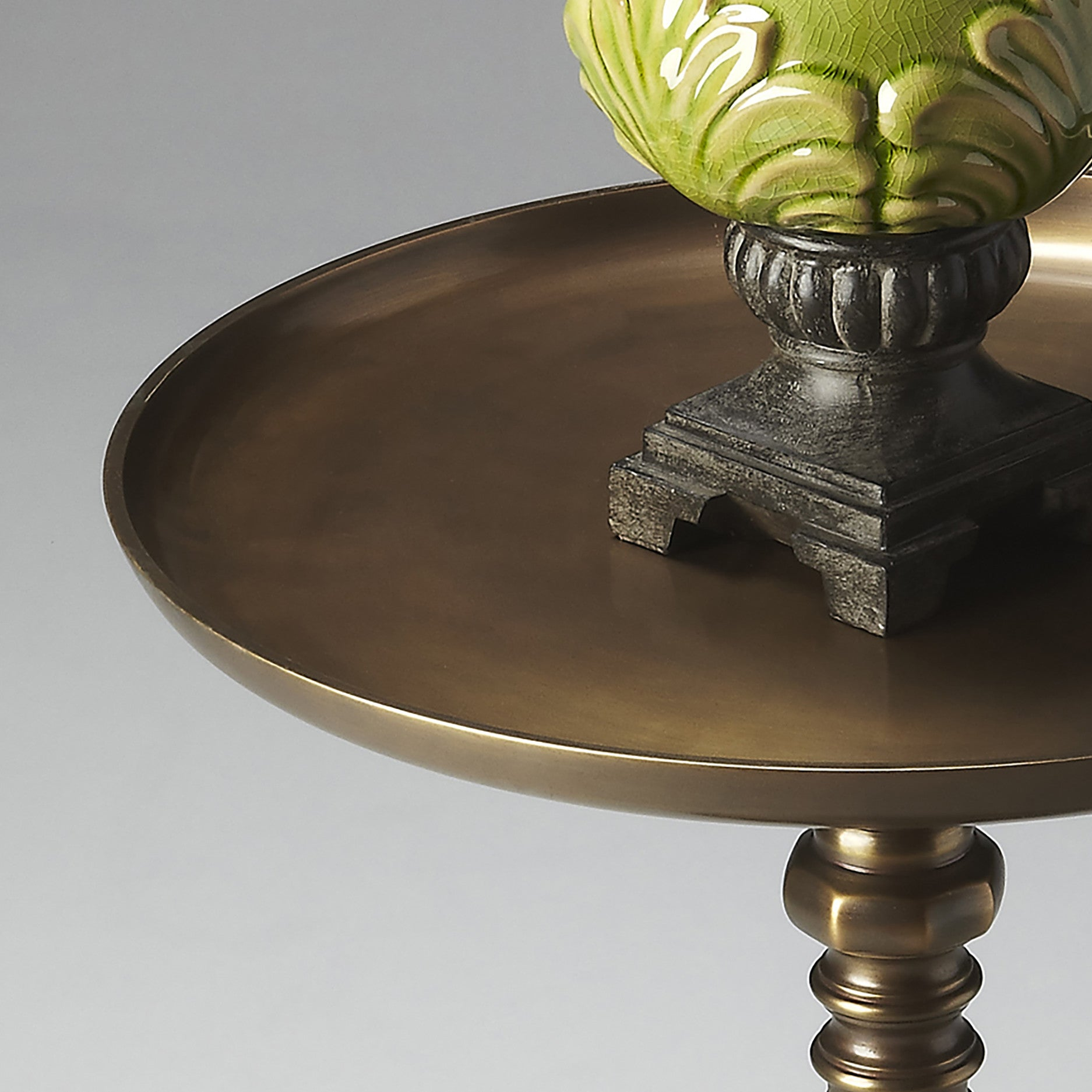 Industrial Modern Bronze Finish Metal End Table