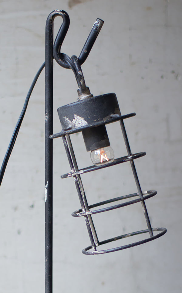Farmhouse Industrial Modern Wire Caged Desk Table Lamp