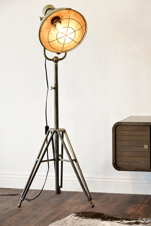 Industrial Modern Caged Studio Floor Lamp