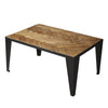 Industrial Modern Rustic Farmhouse Metal and Wood Coffee Table