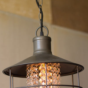 Industrial Modern Metal Pendant Lamp With Gems