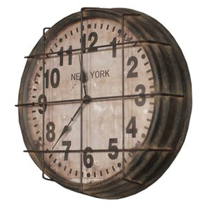 Industrial Modern Factory Style Clock With Cage