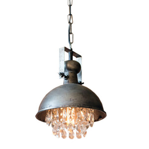 Industrial Modern Raw Metal Pendant Lamp With Gems
