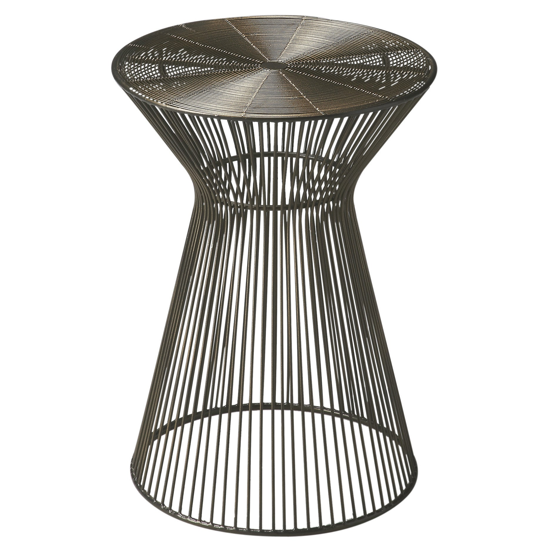 Modern round end tables - Industrial Modern Round Wire End Table
