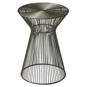 Industrial Modern Round Wire End Table