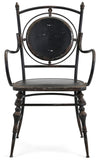 Industrial Modern Farmhouse Rustic Metal Black Arm Chairs - Set of 2
