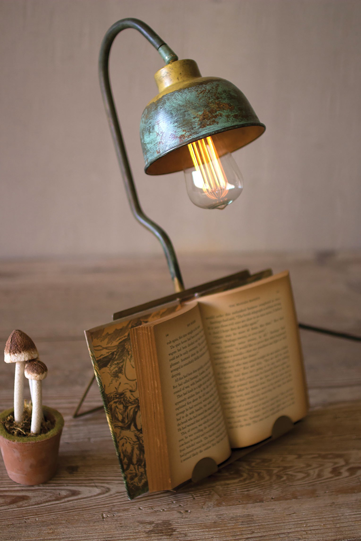 Industrial Modern Table L& With Book Holder & Modern Table Lamps - Woodwaves