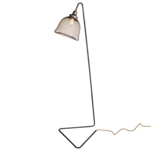 Industrial Modern Edison Floor Lamp With Wire Mesh Shade