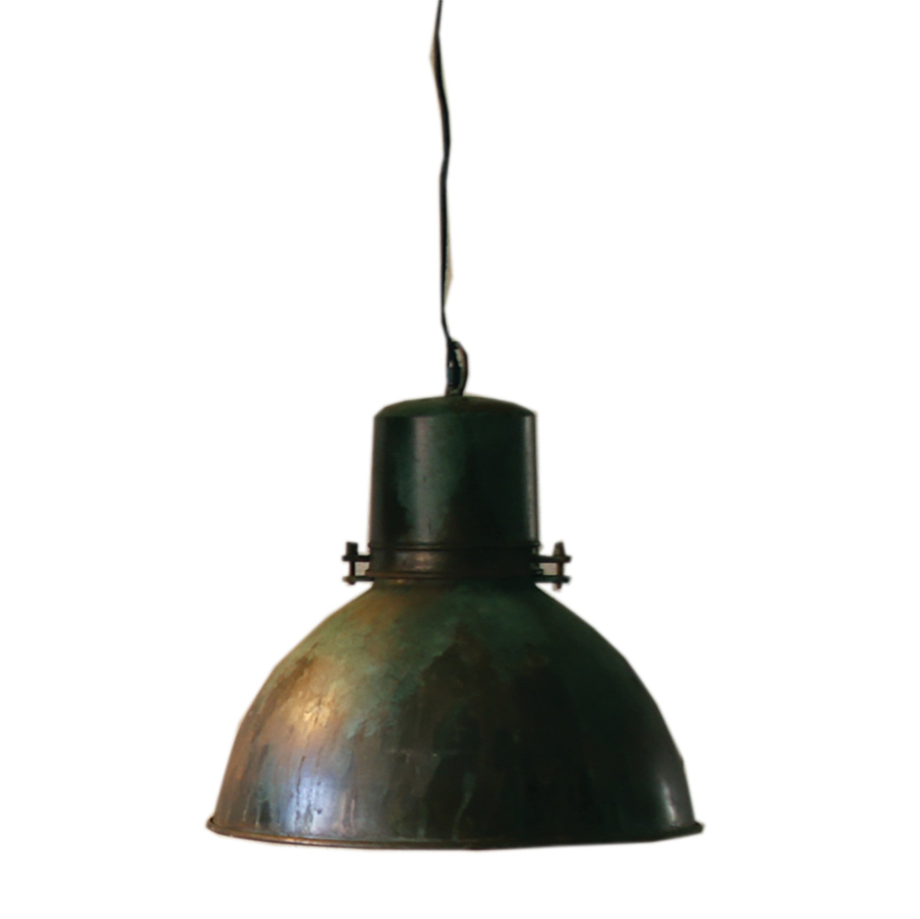 Industrial modern warehouse style pendant lamp with green patina industrial modern warehouse style pendant lamp with green patina aloadofball Image collections