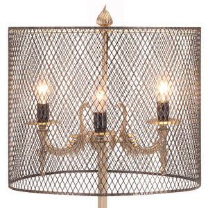 Industrial Chic Modern Wire Mesh Table Lamp