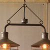Industrial Modern Cage Edison Chandelier Two Light Pendant Lamp