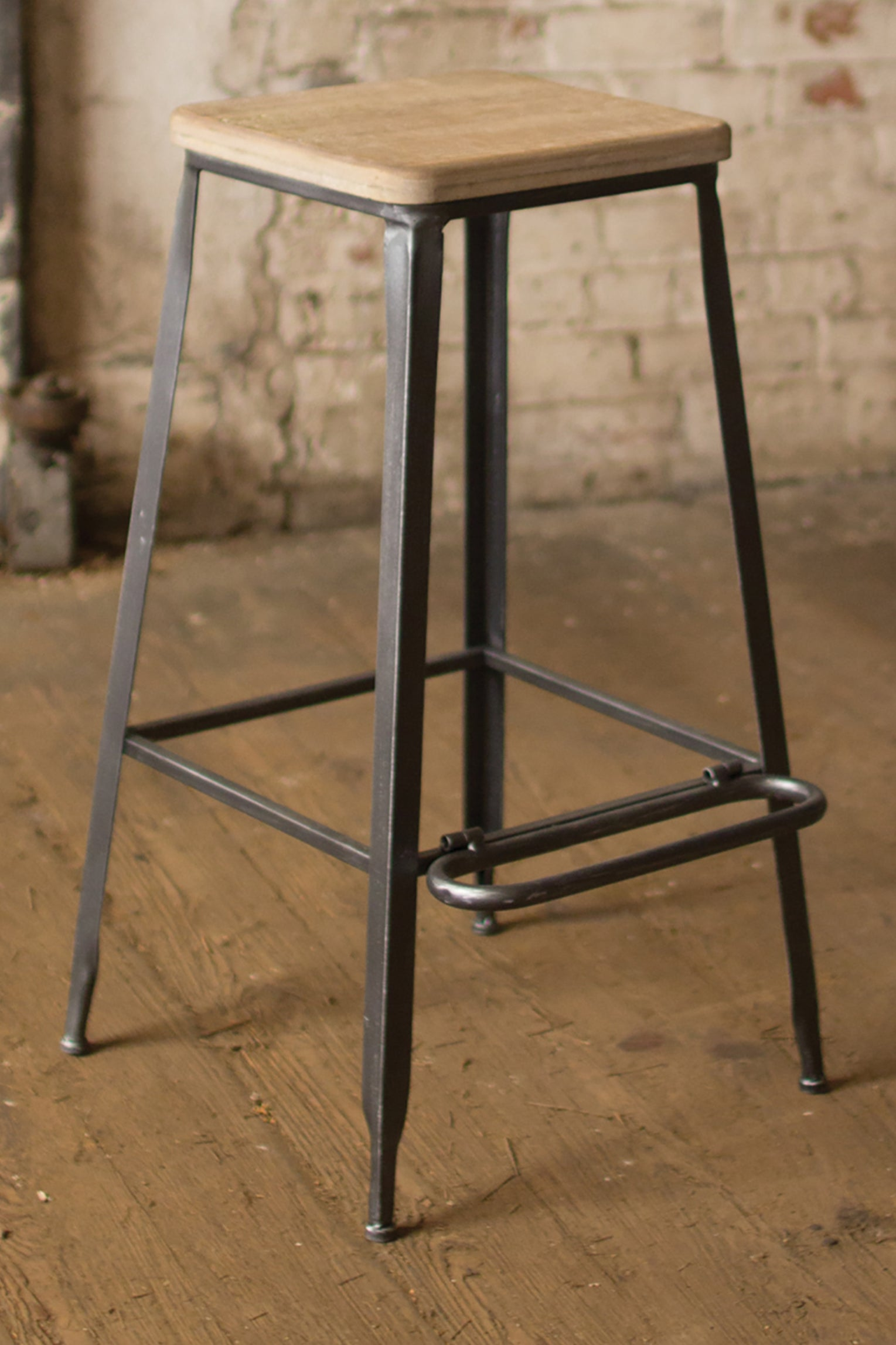 Outstanding Industrial Modern Metal Bar Stool With Wood Seat Machost Co Dining Chair Design Ideas Machostcouk