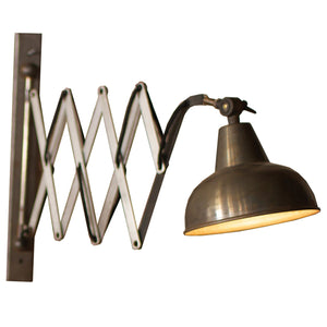 Industrial Vertical Scissor Wall Lamp